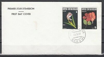 Central Africa, Scott cat. 313-314. Local Flowers issue. First day cover.