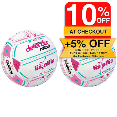 2PK Summit Liz Ellis Classic Defender Netball Size 5 Pink/White Sport Ball Game