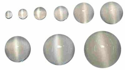 Natural Extra Fine White Cat's Eye Moonstone - Round Cabochon - Madagascar - AAA