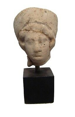Ancient Artifact - 300 B.C. Greek Terracotta/Clay head of a Woman - W/ C.O.A