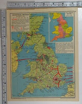 1941 WW2 MAP Industrial Britain Civil Defence Regions ... Salt Map Of China on scarcity of food in china, a map form america to china, russian maps n china,
