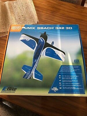 RARE UMX SBACH 342 3D Eflite EFLU4950 with AS3X BNF New in box airplane, not RTF