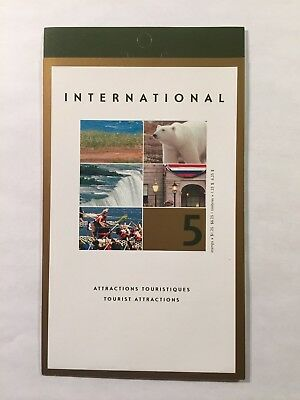 Canada stamps BK271b, #1990, Tourist Attractions MNH
