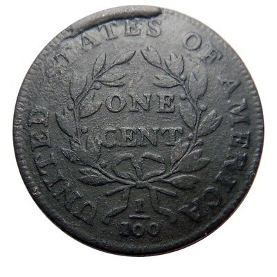 Large cent/penny 1798 style 1 hair Sheldon 161 terminal die state
