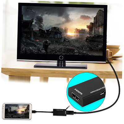 Good Quality Display Port Micro USB To HDMI Adapter Cable Converter Black LKMT