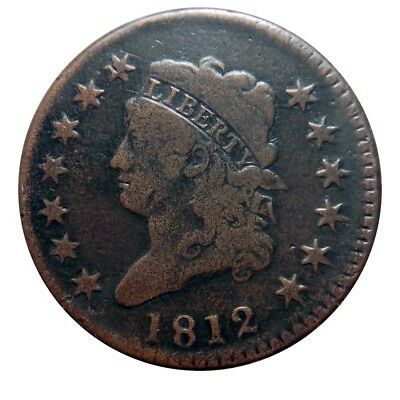 Large cent/penny 1812 nice+