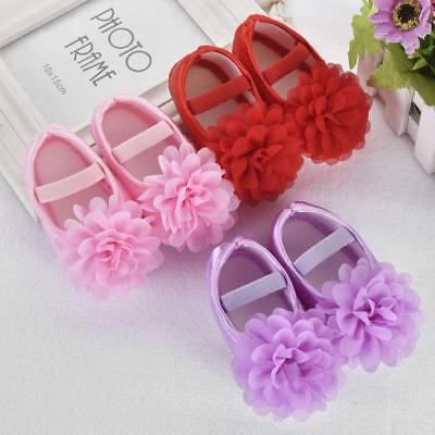 Toddler Kid Baby Girl Chiffon Flower Elastic Design Band Newborn Walking Shoes