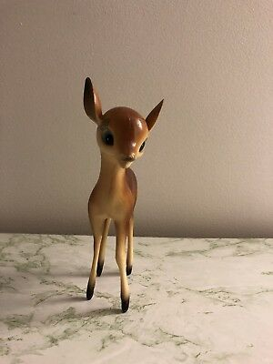 VINTAGE Mid Century Plastic Deer Fawn Figurine Decoration Collectible