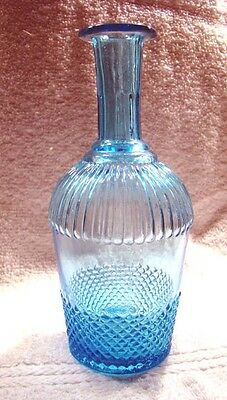 Early Sapphire Blue Glass Cologne Bottle- Iron / Graphite Pontil