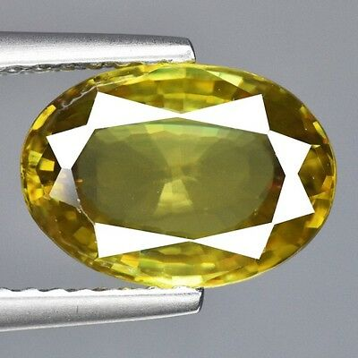 Natural Beautiful Untreated Yellow sphene Gemstone