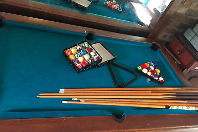 Green Pool Table length:175cm x Width:105cm x Height: 85cm, & Accessories