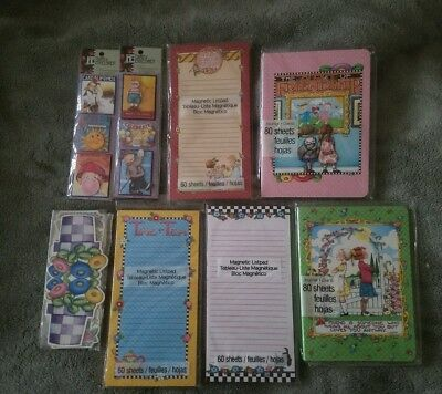 Mary Engelbreit Magnetic Note/List Pad Sticker Journal Book Gift Tag Mixed Lot 8