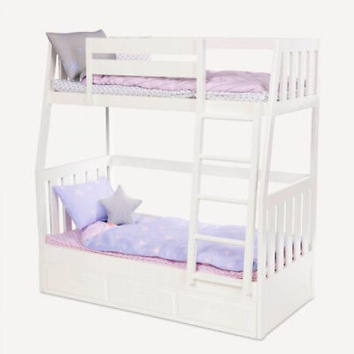 Dream Bunk Our Generation Compatible Double Deck Doll Beds and Accessories Set