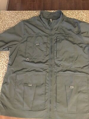 OUTDOOR LIFE Mens Gray Full Zip Jacket Size XL POCKETS...NICE