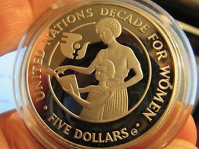 DECADE for WOMEN: Solomon Islands $5 Gem Proof Silver ABSOLUTE RARITY 7.500 ONLY