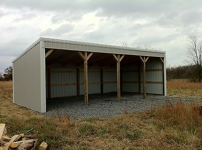Pole Barn 12X40 Loafing Shed Material List Building Plans E-File As Pdf Or Word