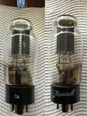 2 x GZ32 Mullard Blackburn square getter R71 -1958 / 1959 - Test 100%