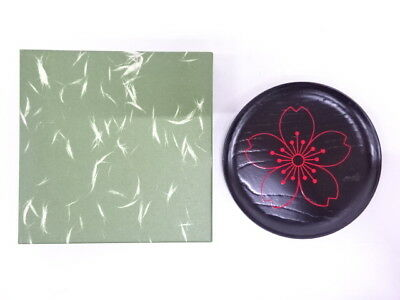 3453098: Japanese Tea Ceremony / Lacquered Sweets Plate By Hikobei Nisimura / Sa