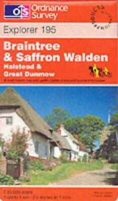 Braintree and Saffron Walden (Explorer M... by Ordnance Survey Sheet map, folded