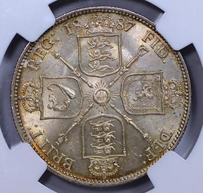 Great Britain, 1887 Silver Florin - 2 Shillings, Jubilee Head, NGC MS63