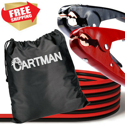 Cartman Heavy Duty Booster Cables Jump Cable with Carry Bag, 2 AWG (2Gauge x...
