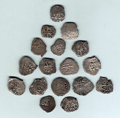 Bolivia. Silver 1/2 Reales from 18th Century. Potosi & Lima Mints.. VG - F