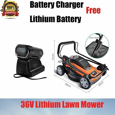 Garden Yard Outdoor 370mm Lawn Mower Grass Catcher Battery Life Indicator 900W
