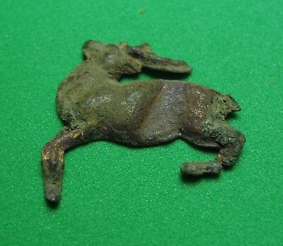 Very old thing is excavation, Decoration Running deer Bronze Antique Rare
