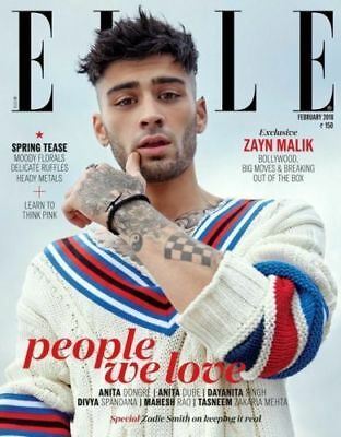 ELLE INDIA February 2018 MAGAZINE ZAYN MALIK Zadie Smith