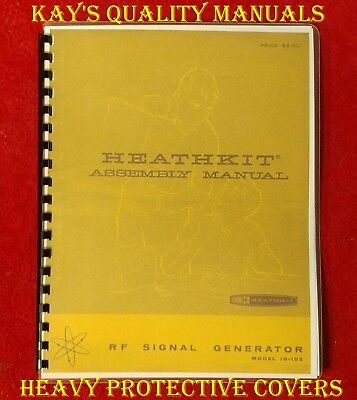 Heathkit IG-102 Signal Generator Manual on 32 Lb Paper  ***C-MY OTHER MANUALS***