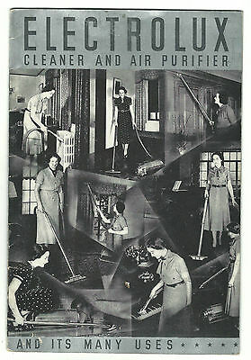 1937 Advertising Book ELECTROLUX Vacuum Cleaner Air Purifier User's Manual