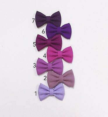 Purple Hair Bow Baby  Hair Clip  -  Toddler Girl Hair Clip Bow Fabric Bow