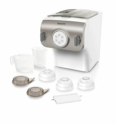 Philips Avance Collection HR2358/12 Pasta Maker 4 Shaping Discs Mix and knead