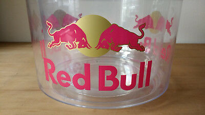Genuine Red Bull Large Ice Bucket clear double insulated pubware