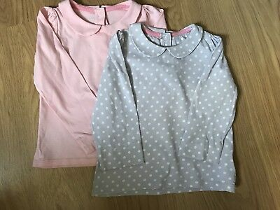 Mothercare Girls Peter Pan Tops - Pack Of 2 - 18/24 Months