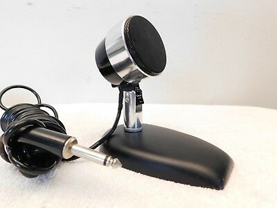Vintage Old Extreme Art Deco Mid Century Streamlined Microphone & Matching Base