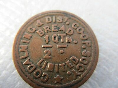 Vintage..godalming & District Co-Op Society - Bread 1/2 Qtn. Medal / Coin / Fob
