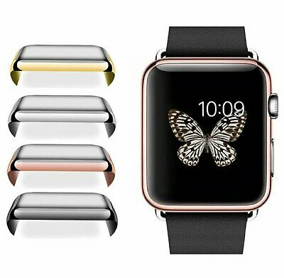 Apple Watch 1/2/3 38/42mm Slim Full Body Cover Snap On Screen Protector Case
