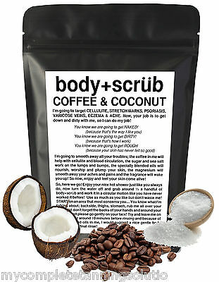 Organic Coffee & Coconut Body Scrub Reduce Cellulite Acne Stretch Marks + More