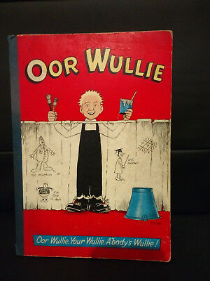 Fantastic 'Oor Wullie Annual' (rare) W. D. Watkins.  1958 in good condition