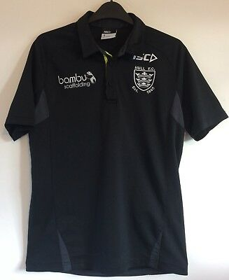 Official Hull FC Black Adult Polo Size Small