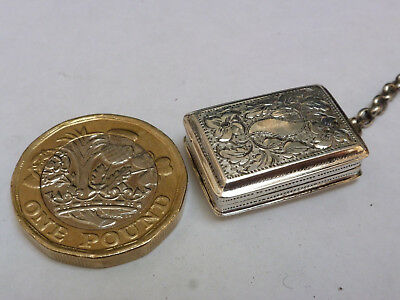 Very Small Silver vinaigrette by John Lilly Birmingham 1831  22mm x15mm x 7 mm