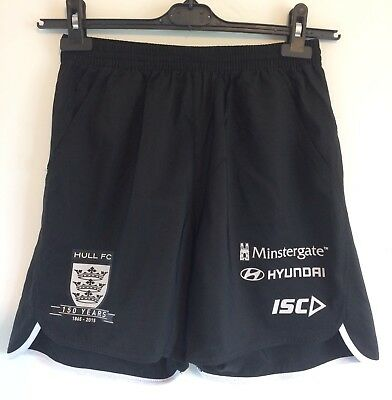 Official Hull FC 2015 Black Training Shorts Size XS, 150 year Crest