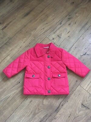 Pink Coat Baby Girl 3-6 Months Next