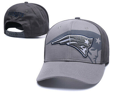 New England Patriots Football NFL Unisex Baseball Hat Cap Silver w/ Grey Peak AU