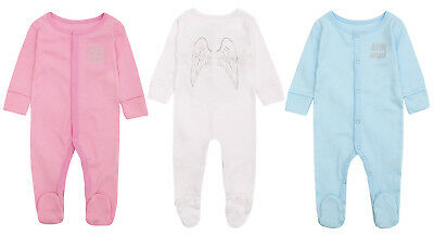 Baby Boys Girls Little Angel Wings Babygrow Sleepsuit Romper Baby Shower Gift