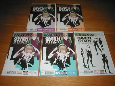 EDGE OF SPIDER VERSE # 2 COMPLETE SET OF 1st, 2nd,3rd,4th and 5th PRINTINGS