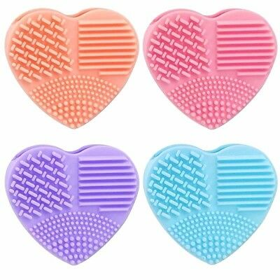 Brush Scrubber Make Up Cleaner Tool Silicone Heart Glove Washing Brush Cleaners