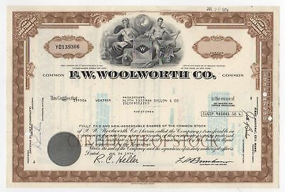 F.W.Woolworth Co. Stock Certificate