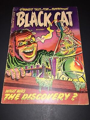 BLACK CAT Mystery #43 PRE-CODE Horror 1953 Golden Age comic book VG 4.0 OWW Page